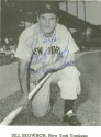 "Bill ""Moose"" Skowron Autographed Card"