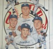 1961 NY Yankee infield Promotional Poster from Chase Bank