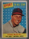 STAN MUSIAL-1958 Topps-Sport Magazine '58 All-Star Card #476
