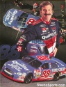 Dale Jarrett Autograph 8.5 by 11 promotion card