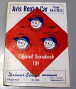 1961 Binghamton TRIPLETS scorecard