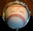Autographed Rawlings baseball by Ernie Banks