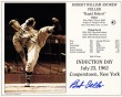 Bob Feller - Hall of Fame Autographed Induction Day Ceremony Card