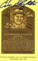 Enos Slaughter Hall of Fame Autographed Card