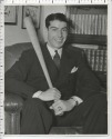 JOE DiMAGGIO Posing with Bat Original 1940's News Photo