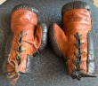 Boxing gloves autographed by Gene Tunney and Jack Dempsey