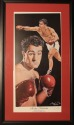 "Rocky Marciano ""Brockton Blockbuster""  Lithograph Autographed by Artist Angelo Marino"
