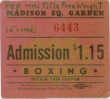 Vintage Boxing Ticket Stub - Willie Pep vs Chalky Wright