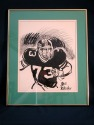 Bill Gallo Original Art Work of NY Jets Joe Klecko