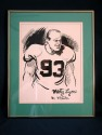 Bill Gallo Original Art Work of NY Jets Marty Lyons