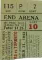 Vintage Hockey Ticket Stub - Rangers vs Toronto