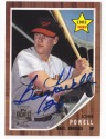 1962 John Boog Powell Topps rookie card paired with a 2001 Topps Archives Auto Autograph Orioles Rookie Reprint