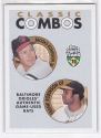 2002 Topps Brooks & Frank Robinson Classic Combos Game Used Bat Card