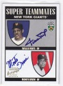 2002 TOPPS SUPER TEAMS WILLIE MAYS/MONTE IRVIN AUTO