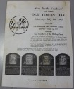 New York Yankees 1962 Old Timer's Day Program