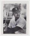 Thurman Munson hand signed black and white photo approximately 4X5""